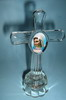 HX-5193 GF 020814 Cross - Gospa Photo with light - glass