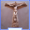 C2009 Franciscan Tau Cross Hand-painted Alabaster Wall Crucifix