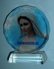 XY-01 GF Medjugorje Gospa Photo Our Lady of Peace - glass