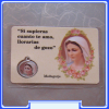 PC_ES107 Medjugorje Prayer Medal Card - Spanish