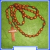 E6123015 DBR - WR005 - Natural wood Rosary of Our Lady
