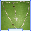 R0001X-Medjugorje Rock Rosary with Terra Center
