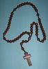 E8118025 DBR - Wooden Rosary dark brown