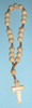 F8110022 WH -Wooden Rosary white - Medjugorje Wood Peace Chaplet