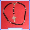 MON200-R11-BL    - black Rosary of Mary Mother of God (Gospa)