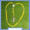 MON200-R11-YE - Yellow Rosary of Mary Mother of God (Gospa)