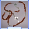 Our Lady (Gospa) Rosary MON250-R30_BROWN with cca. 8 mm Beads