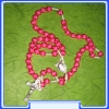 Our Lady (Gospa) Rosary MON250-R30_ROSE with cca. 8 mm Beads