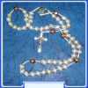 Our Lady (Gospa) Rosary MON250-R30_WHITE with cca. 8 mm Beads