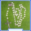 Our Lady (Gospa) Rosary MON250-R31_WHITE with cca. 5 mm Beads