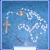 ROSARY OF VIRGIN MARY MON250-R36 WITH CCA. 5 MM BLUE BEADS