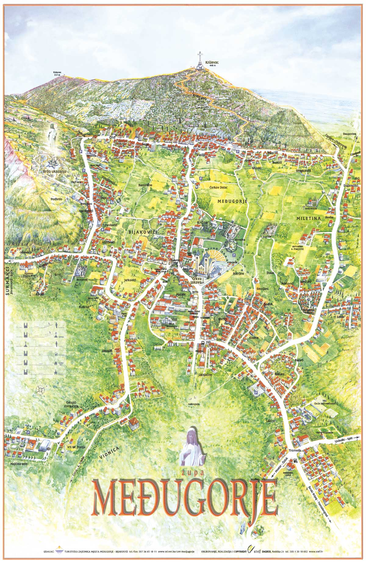 Medjugorje Map - Plan of Village Međugorje