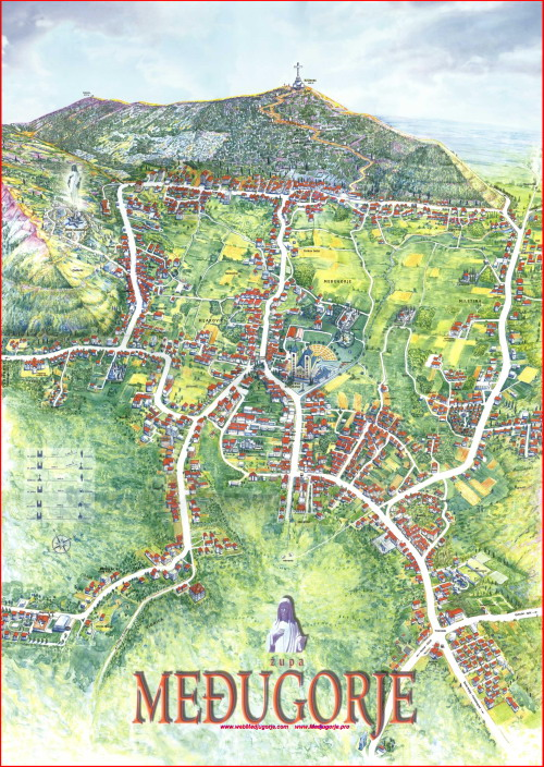 MEDJUGORJE BIG MAP - A DETAILED PLAN FOR THE PARISH OF MEDJUGORJE (CLICK FOR BIG MAP: 8 Mb jpg - size: 5270x7420 px)