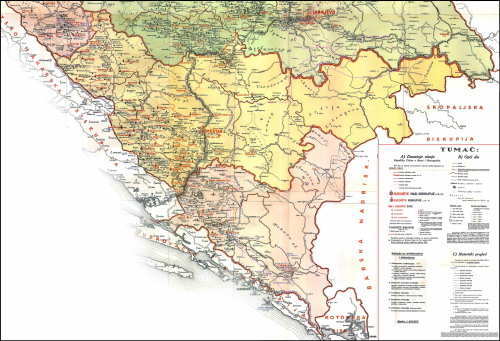DIOCESE OF MOSTAR-DUVNO BIG MAP FROM 1931 YEAR (CLICK FOR BIG MAP: 2,3 Mb jpg - size: 3414x2330 px)