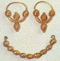 ANCIENT CROATIAN JEWELLERY - TURBE NEAR TRAVNIK, 7TH CENTURY