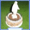 SGP042 Statue - Our Lady Quen of Peace - Medjugorje