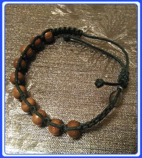 MAR_W01 Wood Bracelets/Chaplets of Gospa of Medjugorje