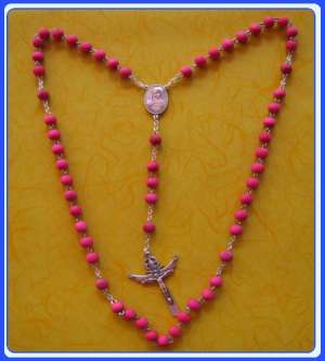 WR-0107 Wood Rosary of Gospa of Medjugorje