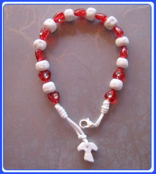 RB-0109 Stone Bracelet of Blessed Mother of Medjugorje